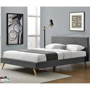 """Čalouněná postel,, Toledo """"140 x 200 cm - tmavě šedá"""