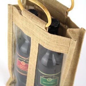 Dárková taška na 2 vína 40cm