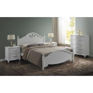 Dřevěná postel MALTA 160 x 200 cm barva bílá