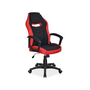 Kancelářská židle CAMARO černá/červená
