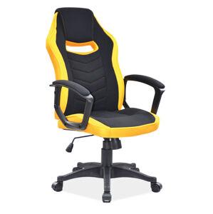 Kancelářská židle CAMARO černá/žlutá