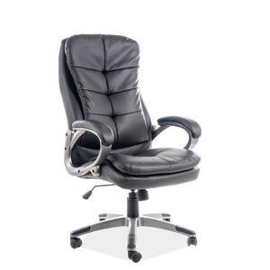 Kancelářská židle Q-270 černá eko kůže