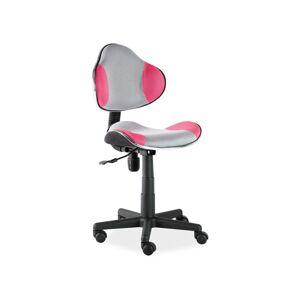 Kancelářská židle Q-G2 ružovo/šedá