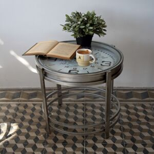 Kovový stůl - hodiny 52×60,7×52cm