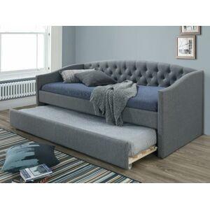 Čalouněná postel ALESSIA 90 x 200 cm barva šedá/dub