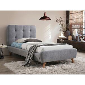 Čalouněná postel TIFFANY 90 x 200 cm barva šedá / dub