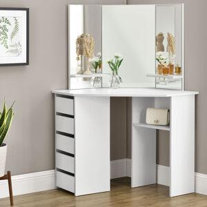 "Toaletní stolek ""Nova"" bílý se zrcadlem, bez taburetky"